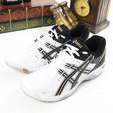 男 asics亞瑟士排、羽球鞋 GEL ROCKET 白黑B003N-0090
