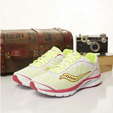 Saucony 專業慢跑鞋 KINVARA 3 --螢綠白 10169-1--女