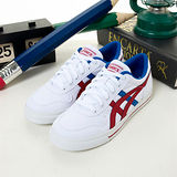 男【asics】經典帆布鞋AARON 白藍紅 TQA290-0123