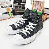 【女】CONVERSE帆布鞋 幾何圖騰 黑灰綠21U170205