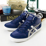 男 asics經典潮流鞋 AARON MT 藍灰白 H930Y-5011