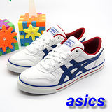 (男)【asics】經典帆布鞋AARON 白藍紅色 H900N-0150
