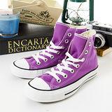 女 CONVERSE高筒帆布鞋 ALL STAR 基本款 紫 21U170440