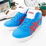 男--asics經典帆布鞋 AARON MT CV藍紅H009N-4223