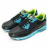 【男】DIADORA 專業慢跑鞋--氣墊系列--classic--黑藍--6575