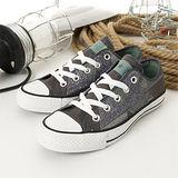 女 CONVERSE帆布鞋 華美浪漫 灰綠14W170114