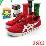 (女)【asics】經典帆布鞋AARON CV 紅白 H900N-2301