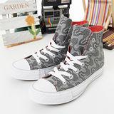 【女】CONVERSE帆布鞋 幾何圖騰  灰橘21U170206