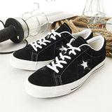 男 CONVERSE日系經典鞋 ONE STAR 黑21U171065