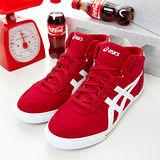 男--asics經典帆布鞋 AARON MT CV紅白H009Q-2301