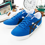男--asics經典帆布鞋 AARON CV 藍黑白H900N-4290
