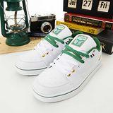 男 LOTTO復古潮流鞋--惡魔戰士--白綠--6525