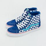 男 VANS 休閒時尚鞋 SK8-HI Reissue  藍白格 32010601