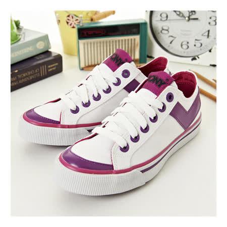 【PONY】女經典帆布鞋 Shooter--白紫桃紅 23U1U10SW