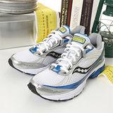 男 SAUCONY-男--專業慢跑鞋GRID IGNITION 3 白藍銀 25121-3