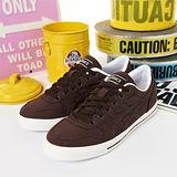 女 asics經典款帆布鞋 AARON 咖啡 H900N-6161