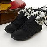 女 asics時尚鞋 PLUMPDOG 黑TQA319-9090