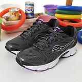 女 Saucony專業慢跑鞋GRID COHESION 5--灰紫 15118-4