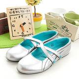 女--asics日系娃娃鞋 MAICA 銀水藍TQA171-9389