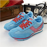 【PONY】女--甜心韓風復古慢跑鞋--SOHO 藍粉紅 23W1T89CB