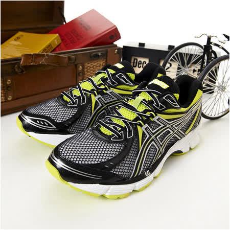 男 asics慢跑鞋 EQUATION 6 黑綠白--T2D2N-9099