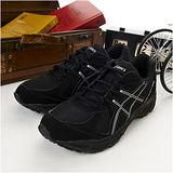 男 asics慢跑鞋 PATRIOT 5 黑銀 T2G0N-9089