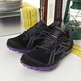 女 Brooks專業越野慢跑鞋 PURE CADENCE 黑紫-BK1201041B055