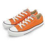女 CONVERSE 短筒帆布鞋 ALL STAR 基本款 繽紛新色 橘 33U170044