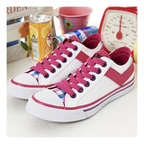 【PONY】女--經典帆布鞋 Shooter--白桃紫 22U1T12SW