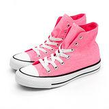 【女】CONVERSE 高筒帆布鞋 ALL STAR 螢光粉紅 32U170023