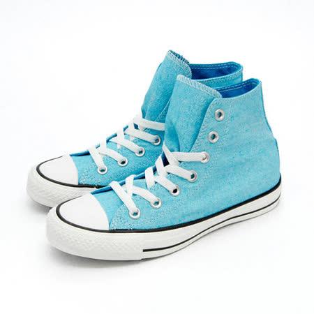 【女】CONVERSE 高筒帆布鞋 ALL STAR 螢光藍 32U170022