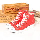 【女】CONVERSE 帆布鞋 楔型時尚 HI-NESS  紅 31W170088