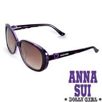 Anna Sui日本Dolly Girl系列甜美少女愛心款造型太陽眼鏡‧黑+紫【DG803107】