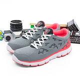 【女】 DIADORA  輕量慢跑鞋--台灣製造EASY RUN輕跑鞋 灰螢橘  8398