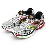 【SAUCONY】男--專業高階慢跑鞋 GUIDE 7 白紅 20227-2