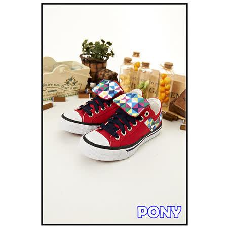 【PONY】女--經典帆布鞋 Shooter--紅藍黑 23U1T21RD