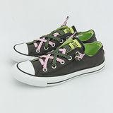 【女】CONVERSE 帆布鞋 繽紛鞋帶  炭灰綠 32W170115