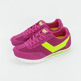 【PONY】女--繽紛韓風復古慢跑鞋--SOHO 桃螢黃 9334SO14PK