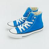 女 CONVERSE 高筒帆布鞋 ALL STAR  亮藍 33U170012