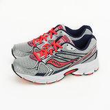 Saucony 專業越野慢跑鞋 GRID COHESION 6 -- 銀螢橘 15156-5--女