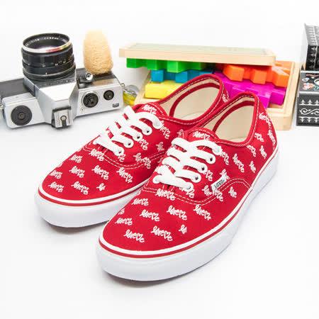 女 VANS休閒時尚鞋 Authentic 紅白 31010107