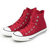 女 CONVERSE 經典鞋 ALL STAR 麂皮 紅34U170019