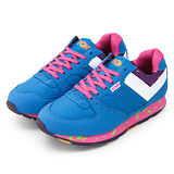 【PONY】女-- 繽紛韓風復古慢跑鞋 SOLA-V 藍白桃 9344SO22BL