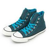 女 CONVERSE 帆布鞋 ALL STAR 深藍 34W170068