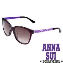 Anna Sui日本Dolly Girl系列經典洋娃娃元素造型太陽眼鏡‧紫【DG804703】