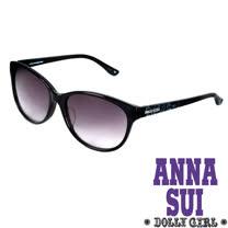 Anna Sui安娜蘇日本Dolly Girl系列復古印花圖騰款造型太陽眼鏡‧黑【DG811001】