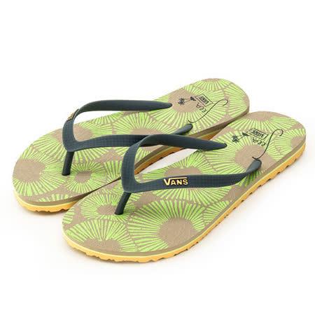女 VANS 海灘鞋--Lanai--棕綠--41062147