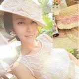 【PS Mall】日韓甜美風格花朵造型蕾絲邊麥秤帽 (G059)