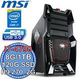 微星Z97平台【電競旋風10號】Intel第四代i7四核 R9 270-2G獨顯 SSD 120G+1TB燒錄電腦