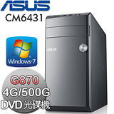 ASUS華碩 CM6431 Intel G870雙核心 Win7電腦(CM6431-G87G77A)